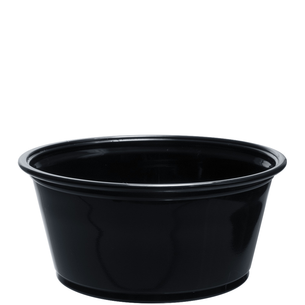 3.25OZ BLACK PORTION CONTAINER 20/125