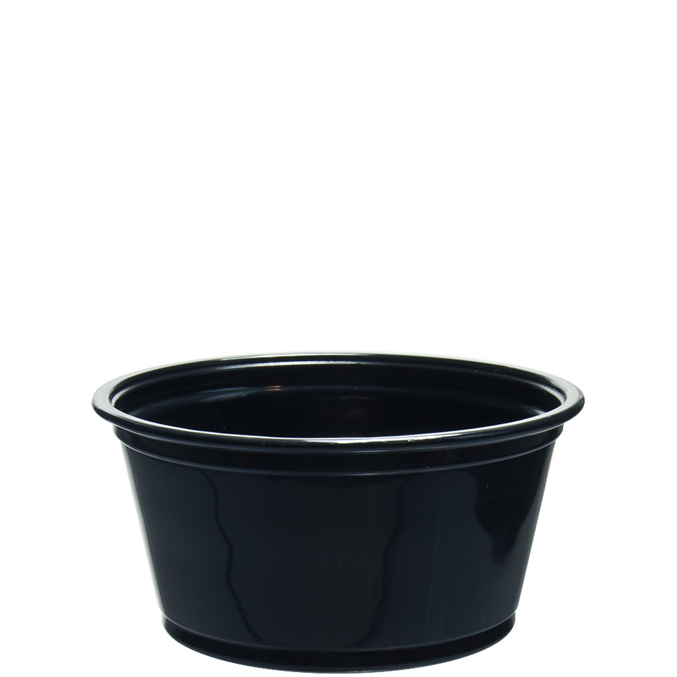 2 OZ BLK PP PORTION CONTAINER