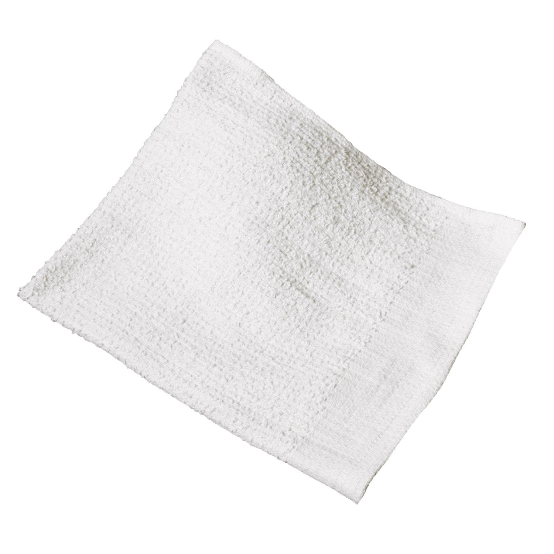 TOWEL BAR 172028 WHITE 17X20 RIBBED TERRY CLOTH